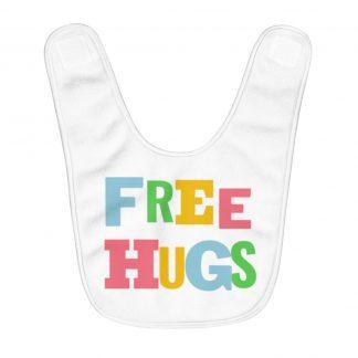 Free Hugs Rainbow Baby Bib Neutral Cute Funny Cuddle NP38